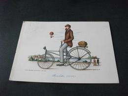 BICICLETTA 1885 ILLUSTRATORE CARLOR SERIE IL VELOCIPIDE SERIE 1° - Cartoline
