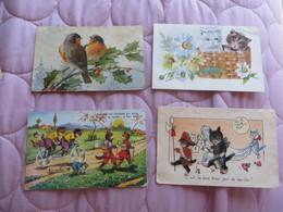 LOT FANTAISIE ET ASSIMILLES ,tres Interressant Vu Le Prix De Depart ,et La COMPOSITION DU LOT - Postcards
