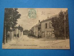 08 - CPA  TAGNON   LA RUE DE LA PLACE  VOYAGEE 1906 - Autres Communes