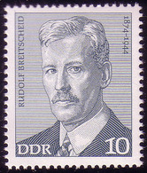 1915 Arbeiterbewegung Rudolf Breitscheid 10 Pf ** - [6] Oost-Duitsland