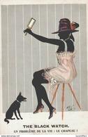 Illustrateur Arthur Butcher - Jolie Silhouette Féminine - The Black Watch - Comique Séries N° 8074 - 2 Scans - Künstlerkarten