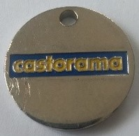 Jeton De Caddie - CASTORAMA - HENIN BEAUMONT (62) - En Métal - - Trolley Token/Shopping Trolley Chip