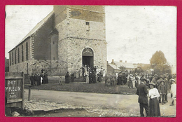 Carte Photo Preux Au Bois - À La Sortie De L'Église - Andere Gemeenten