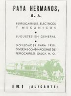 Page Publicitaire PAYA HERMANOS S.A. 1958 Par Magazine De L'époque - En Espagnol - Boeken En Tijdschriften