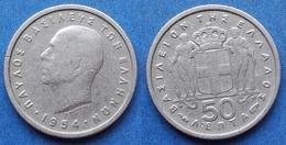 GREECE - 50 Lepta 1954 KM# 80 Paul I (1947-1964) - Edelweiss Coins - Greece