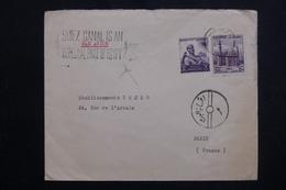 EGYPTE - Enveloppe Commerciale Du Caire Pour Paris, Affranchissement Plaisant, Voir Cachets - L 61733 - Briefe U. Dokumente