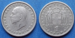 GREECE - 1 Drachma 1957 KM# 81 Paul I (1947-1964) - Edelweiss Coins - Grecia