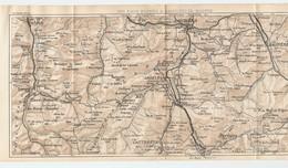 CARTE PLAN 1927 - 15,5 X 33 Cm - PYRÉNÉES - DES EAUX BONNES à BAGNERES De BIGORRE - BAREGES ARGELES CAUTERETS ARUDY - Mapas Topográficas