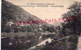 19 - SPONTOUR - GORGES DE LA DORDOGNE- VUE PITTORESQUE  CORREZE - Other Municipalities