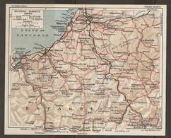 CARTE PLAN 1927 - PYRÉNÉES - BAYONNE BIARRITZ CAMBO - ROUTES CHEMIN DE FER VOIES ÉTROITES VOIES EN CONSTRUCTION - Mapas Topográficas