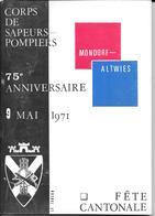 Mondorf-Altwies  75 Ans Fanfare - Historia