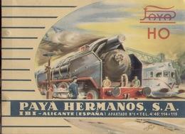 Catalogue Payá 1960 Hermanos S.A. IBI Alicante HO Made In Spain - En Espagnol - Boeken En Tijdschriften