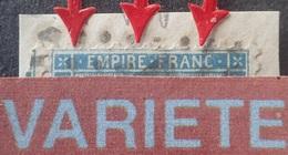 R1917/384 - NAPOLEON III - N°22 (sur Fragment) - GC 1947 : LANGRES (Haute Marne) - VARIETE ➤➤➤ Filet Nord Retouché - 1862 Napoleon III
