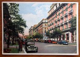 ROMA  Via Vittorio Veneto - Cars Auto  Cartolina  Viaggiata - Transports