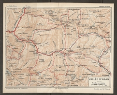 CARTE PLAN 1926 - PYRÉNÉES - VALLÉE D'ARAN - VALLÉE De BARRADOS MALADETTA - VIELLA LAS CASAS CANÉJAN - Mapas Topográficas