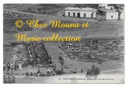 SETTAT PRISONNIERS ALLEMANDS CORVEE DE LAVAGE MAROC POUR PRISON CIVILE A RABAT - CPA MILITAIRE - Guerre 1914-18