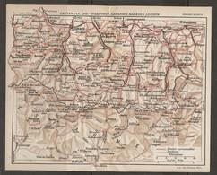 CARTE PLAN 1927 - PYRÉNÉES - CAUTERETS LUZ SAINT SAUVEUR GAVARNIE BAREGES LUCHON - ROUTES SENTIERS - Mapas Topográficas