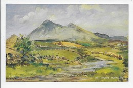 THE MOURNE MOUNTAINS - Artist W.J. Burroughs - Art Colour  A.1552 - Down