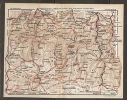 CARTE PLAN 1927 - PYRÉNÉES - St JEAN PIED De PORT PAMPELUNE OLORON JACA EAUX CHAUDES EAUX BONNES - ROUTES SENTIERS - Mapas Topográficas