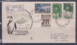 AAT 1959 Definitives Registered Cover From MAWSON - Brieven En Documenten