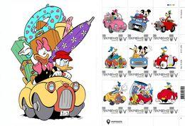 Ukraine 2020, Cars, Disney Cartoon Characters, Sheetlet Of 9v - Ukraine
