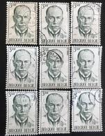 België - Belgique - (o)used - Ref B1/6 - 1971 - Michel Nr.1655 - Dr. Jules Bordet - Timbres