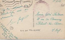 Cachet Militaire : 13 AIX EN PROVENCE - Guerre De 1939-45