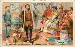 CHROMOS - CHRISTOPHE COLOMB - VENDU EN ETAT - Old Paper