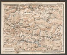 CARTE PLAN 1926 - PYRÉNÉES - CAUTERETS Et GAVARNIE - St SAUVEUR BAREGES EZCUZANA BUGGARET - Mapas Topográficas