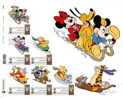 Ukraine 2018, Luge, Disney Cartoon Characters, Sheetlet Of 6v - Ukraine