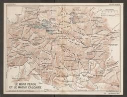 CARTE PLAN 1927 - PYRÉNÉES - LE MONT PERDU Et Le MASSIF CALCAIRE - VALLÉE De PINEDE VALLÉE De TELLA VALLÉE De FANLO - Mapas Topográficas