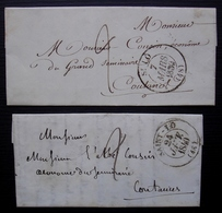 Saint-Lô (Manche) Lot De 2 Lettres De 1839 Et 1840, Voir Cachets ! - Postmark Collection (Covers)