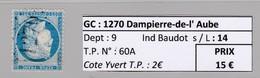 GC 1270 Dampierre-de-l' Aube ( Dept 9 ) S / N° 60A - Marcophilie (Timbres Détachés)