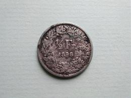 SUISSE    -  1/2   Franc  1898   -  Schweiz   -   Switzerland - Schweiz
