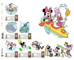 Ukraine 2018, Sea Adventures, Disney Cartoon Characters, Sheetlet Of 6v - Ukraine