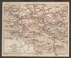 CARTE PLAN 1927 - PYRÉNÉES - SAINT GIRONS AULUS AX Les THERMES ANDORRE ANDORRA - ROUTES Et CHEMINS TOURISTIQUES - Mapas Topográficas