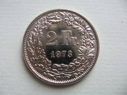SUISSE - SCHWEIZ  -  Switzerland  -   2 Francs  1973  -- Spl -- - Schweiz