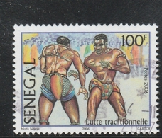 SENEGAL 2006 LUTTE TRADITIONNELLE 100F OBLITERE USED - Senegal (1960-...)