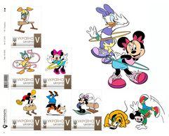 Ukraine 2019, Gymnastics, Disney Cartoon Characters, Sheetlet Of 6v - Ukraine
