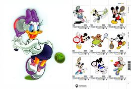 Ukraine 2018, Tennis, Disney Cartoon Players, Sheetlet Of 9v - Ukraine