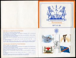Bophuthatswana Mi# 18-21 First Day Card - Independence - Bophuthatswana