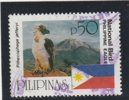 PILIPINAS PHILIPPINES YT 2392 OISEAU BIRD PITHECOPHAGA JEFFERYI OBLITERE USED 1997 - Philippines