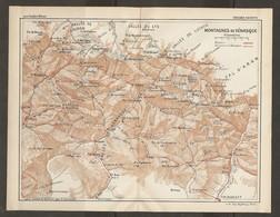 CARTE PLAN 1926 - PYRÉNÉES - MONTAGNES De VÉNASQUE - VALLÉE Du LYS VALLÉE De LUCHON VALLÉE De LOURON VICDAILLET - Mapas Topográficas