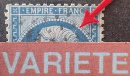 R1917/390 - NAPOLEON III N°22 - GC 2188 : LE MANS (Sarthe) - VARIETE ➤➤➤ Pointe Sur Le Crâne - 1862 Napoleon III