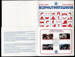Bophuthatswana Mi# 25-8 First Day Card - Road Savety - Bophuthatswana