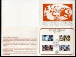 Bophuthatswana Mi# 29-32 First Day Card - Taung Stone Industry - Bophuthatswana