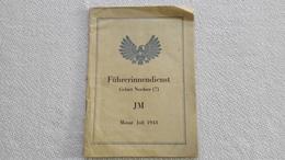 Raree Führerinnendienst Gebietes Nordsee ( 7 ) JM Juli 1943 Jungmädel  Bund Deutscher Mädels BDM HJ - 1939-45