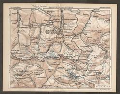 CARTE PLAN 1927 - PYRÉNÉES - BAGNERES De LUCHON - PIC Des POSETS MAYREGNE VÉNASQUE VIELLA - Mapas Topográficas
