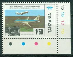 Bm Tanzania 1984 MiNr 247 MNH | 40th Anniv Of I.C.A.O., Douglas DC-10, Boeing 737 Aircraft - Tanzania (1964-...)