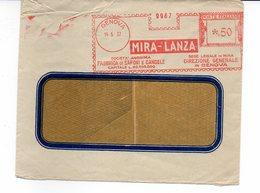 1937 EMA Affrancatura Meccanica Rossa Freistempel Genova MIRA - LANZA Fabbrica Di Saponi E Candele Dir.Gen. Genova - Machine Stamps (ATM)